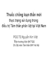 Thuốc chống loạn thần mới thực trạng sử dụng trong điều trị Tâm thần phân liệt tại Việt Nam