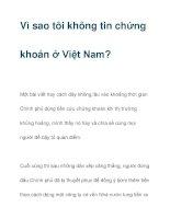 Vì sao tôi không tin chứng khoán ở Việt Nam? pot