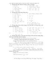 Chuyên đề: Phân tich đa thức thanh nhân twr