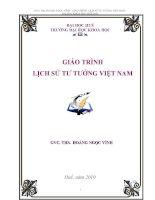 Giáo trình: Lịch sử tư tưởng Việt Nam pdf