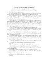 CÔNG NGHỆ SINH HỌC ĐẠI CƯƠNG CHƯƠNG 1: KHÁI NIỆM CƠ BẢN VỀ CÔNG NGHỆ SINH pot
