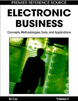 Electronic Business: Concepts, Methodologies, Tools, and Applications (4-Volumes) P1 pps