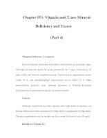 Chapter 071. Vitamin and Trace Mineral Deficiency and Excess (Part 4) docx