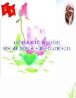 TƯ TƯỞNG ĐẠI ĐOÀN KẾT TRONG DI CHÚC CỦA CHỦ TỊCH HỒ CHÍ MINH pdf