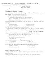 ĐỀ ĐÁP ÁN THI HỌC KỲ 2 VĂN LỚP 11 SỐ 02