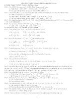 hệ thống bài tập hình học giải tích lớp 12 hay