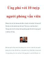 Ứng phó với 10 tuýp người phỏng vấn viên pdf