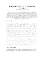 Reflective Practice in Pronunciation Learning