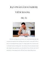 BẠN PHẢI LÀM GÌ KHI BỊ VIÊM XOANG (Kỳ 2) pdf
