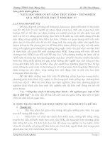 SKKN- giúp HS có kỹ năng thực hành sinhh 6