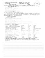 Tuyển tập đề kiểm tra tiếng Anh 8 2016-2017