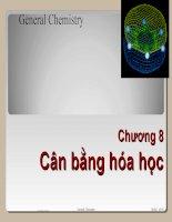 Chương 8- Cân bằng hóa học doc