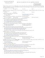 205 câu lý thuyết vật lý của các trường chuyên