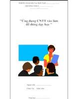 Ứng dụng CNTT vào làm đồ dùng dạy học