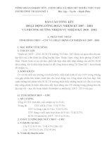 báo cáo tổng kết, phương hướng đại hội công đoàn nhiệm kỳ 2010-2012