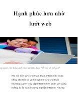 Hạnh phúc hơn nhờ lướt web docx