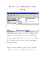 Sao lưu và phục hồi dữ liệu với Cobian Backup- P1 ppt