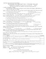 ĐỀ THI NGỮ VĂN 7 HỌC KỲ 2