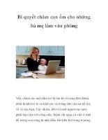 Bí quyết chăm con ốm cho những bà mẹ làm văn phòng pptx