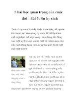 5 bài học quan trọng của cuộc đời - Bài 1: Sự quan tâm doc