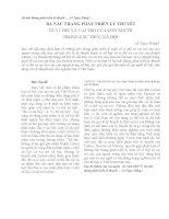 BA NẤC THANG PHÁT TRIỂN LÝ THUYẾT VỀ VỊ THẾ VÀ VAI TRÒ CỦA CON NGƯỜI TRONG CẤU TRÚC XÃ HỘI ppt