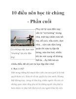 10 điều nên học từ chàng - Phần cuối pps