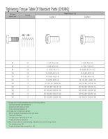 Tightening Torque Table Of Standard Parts pdf