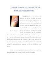 Công Nghệ Quang Trị Liệu Chữa Bệnh Vẩy Nến (PSORIASIS PHOTOTHERAPY) pdf