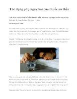 Tác dụng phụ nguy hại của thuốc an thần pps