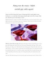 Sảng run do rượu - bệnh có thể gây chết người pps