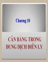 Chương 10: Dung dịch điện ly pot