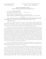 bài dự thi tìm hiểu 65 năm lịch sử Đngr biij Gia Lai