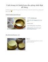 Cách trang trí bánh kem cho giáng sinh thật dễ dàng pdf
