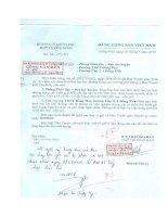 Số: 101-CV/TG ngày 04/5/2010 của Ban tuyên giáo Huyện ủy v/v báo cáo tình hình bạo lực học đường trong các trường THCS, THPT
