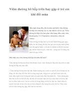 Viêm đường hô hấp trên hay gặp ở trẻ em khi đổi mùa potx