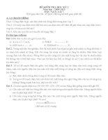 Đề KT Vật lý 7 học kỳ II
