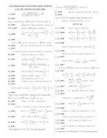 tổng hợp các phương trình lượng giác trong các đề thi đại học