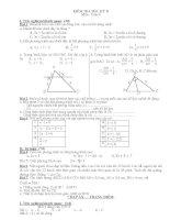 Đề thi toán 8 kỳ 2 có đáp án