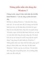 Những phần mềm nên dùng cho Windows 7- P1 doc