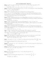 LTDH: bài tập pp tọa độ trong mp+đáp số