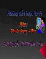 Hướng dẫn thực hành môn Marketing - Mix pdf