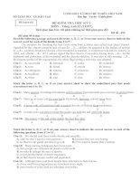 Đề luyện thi kỳ 2-Anh12-5