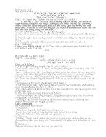 Đề thi ngữ văn 8 kì II Cẩm phả - Quảng Ninh - Đề chính thức - Có đáp án biểu điểm )
