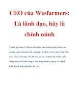 CEO của Wesfarmers: Là lãnh đạo, hãy là chính mình pdf