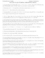 Bài tập - Phương trình đường thẳng pot