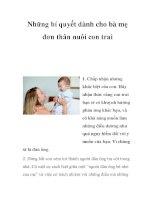 Những bí quyết dành cho bà mẹ đơn thân nuôi con trai ppsx