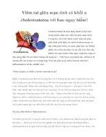 Viêm tai giữa mạn tính có khối u cholesteatoma với bao nguy hiểm! pdf