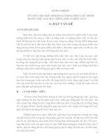 SÁNG KIẾN KINH NGHIỆM TỔ CHỨC CHO HỌC SINH HOẠT ĐỘNG THEO CẶP, NHÓM TRONG VIỆC DẠY HỌC TIẾNG ANH CÓ HIỆU QUẢ