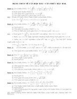 các dạng toán ôn thi vào 10