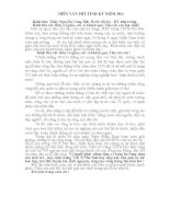 DIỄN VĂN MÍT TINH KỶ NIỆM 30/4